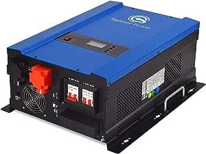 Sigineer Power Solar Inverter,6000W 48V DC to 120V 240V AC Pure Sine Wave Inverter,Built-in 80A MPPT Solar Charge Controller,Split Phase,Low Frequency,for Home Off Grid Solar System