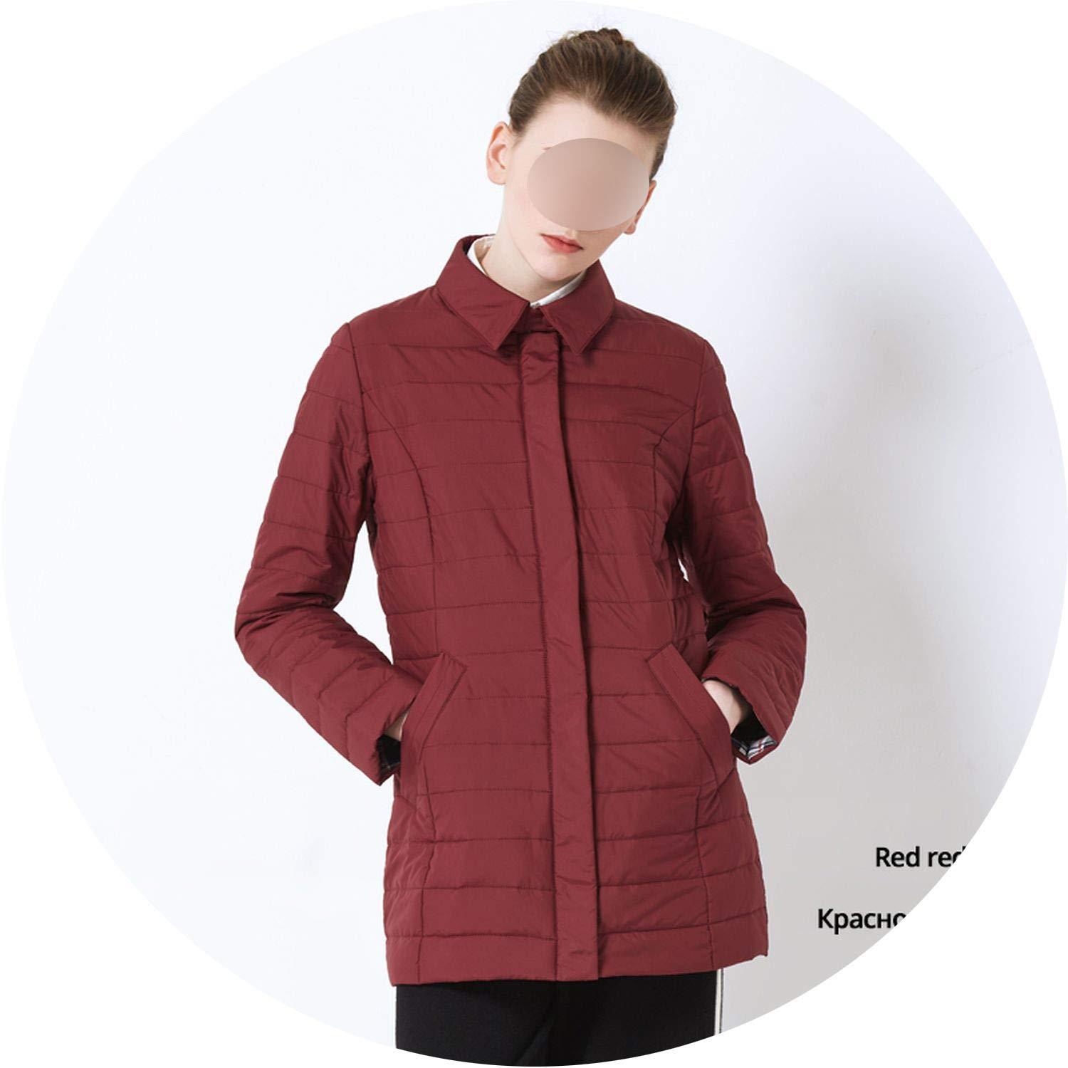 G339 Red red Be fearless 2019 Spring Ladies Short Coat Fashion Casual Ladies Jacket Ladies Cotton Coat