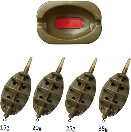 3 /& 1 Feeder Mould Set Inline Method Feeder /& Mould Set For Carp Fishing Tackle