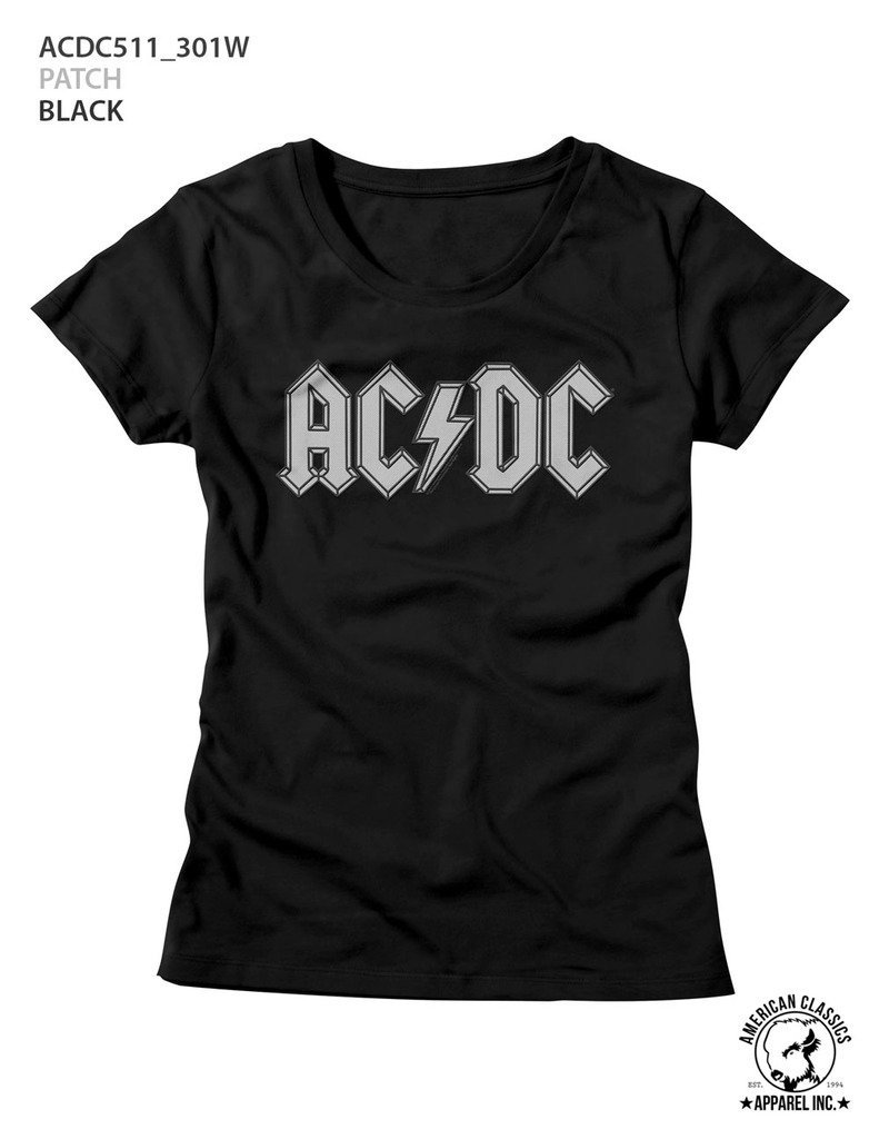 American Classics ACDC Music Patch Ladies Short Sleeve T Shirt M