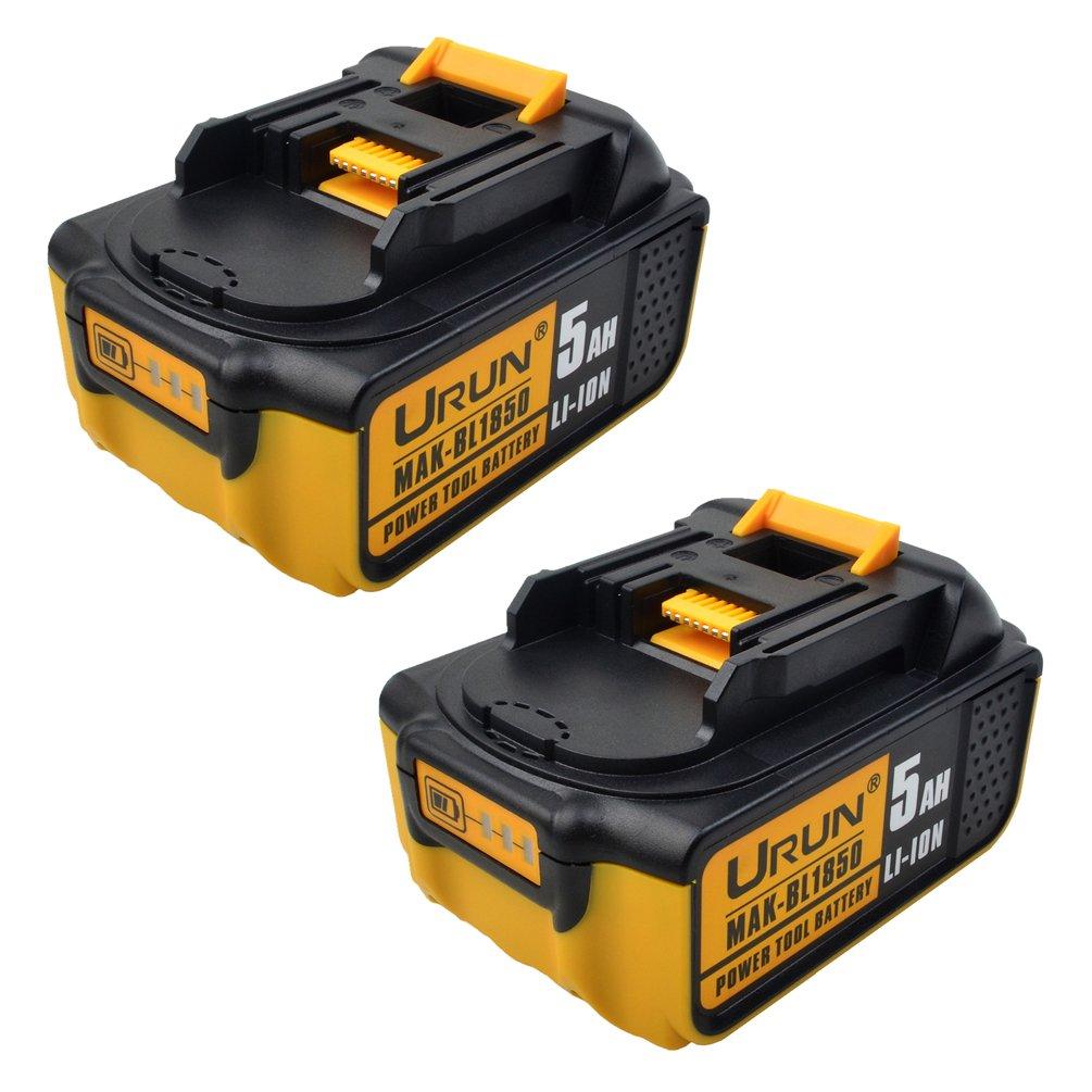 18V 5.0Ah BL1850B Li-ion Battery with LED Power Indicator Replace for Makita BL1830B BL1820 BL1840 BL1850 BL1830B BL1840B LXT-400 194204-5 194205-3 194230-4 194309-1 Series Power Tool (Twin Pack)