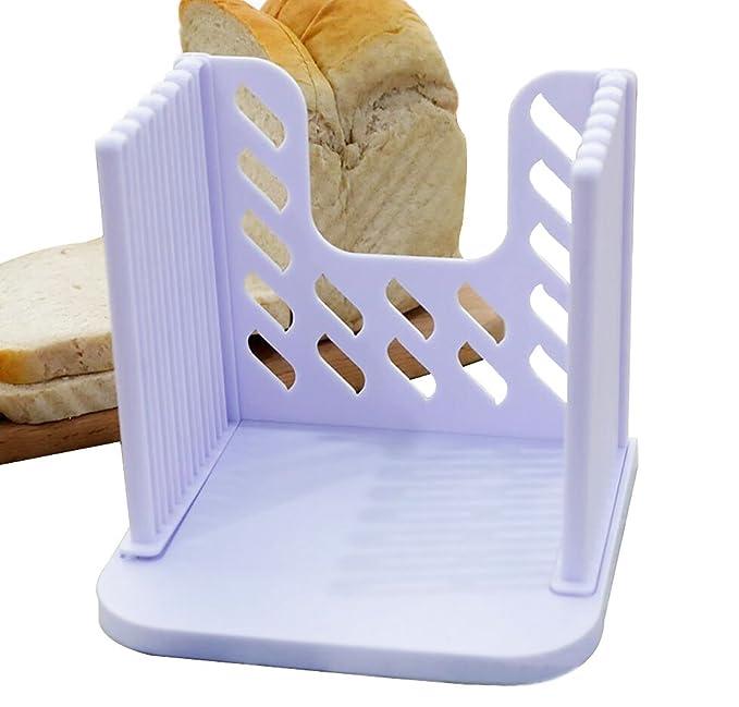 Cortador de pan, soporte de nivelador, cortador de pan de calidad alimentaria premium, cortador de pan/nivelador, ajustable, apto para lavavajillas