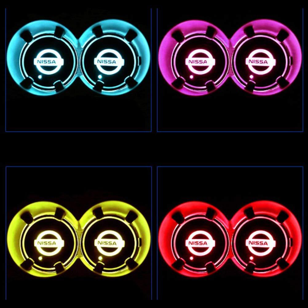 Posavasos para Bebidas luz Interior Clara y Clara. Resistentes al Agua Laduup 2 Posavasos con Logotipo de PC para Coche