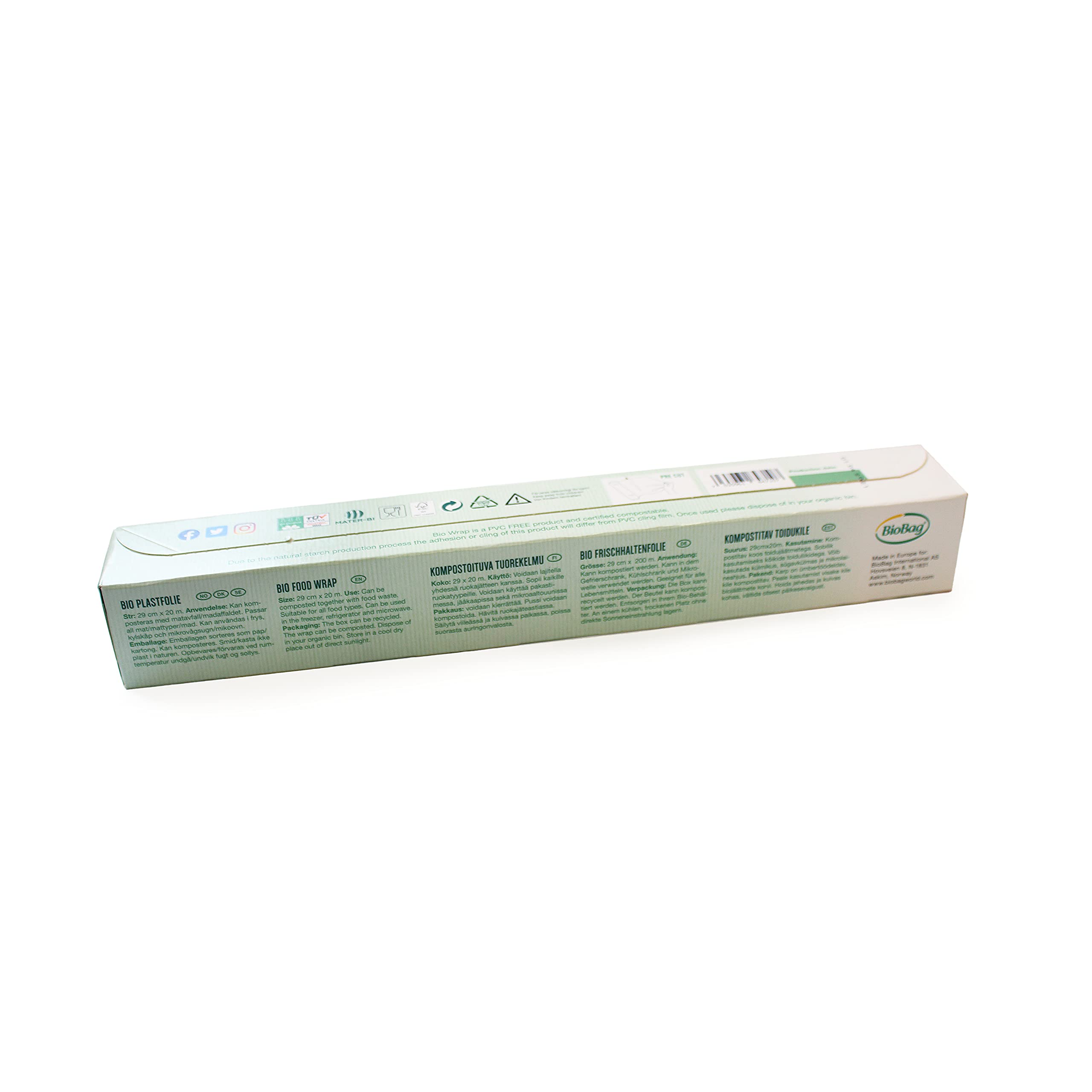 100/% Degradable Non-PVC All Purpose Cling Film 4 x 20M Rolls Biodegradable