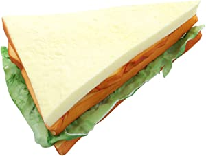 WINOMO Artificial Bread Fake Bread Simulation Food Model Kitchen Prop (Sandwich)