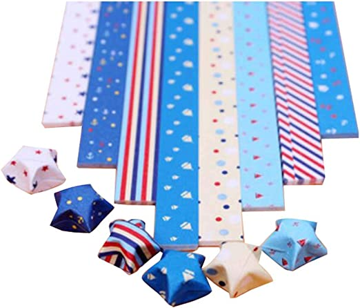 Beautiful Pattern Origami Paper Folding Crafts Sheets Dots Colors Stars Cute New
