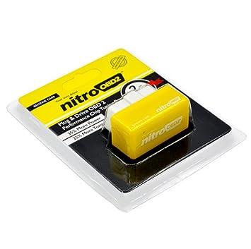 nitroOBD2 - Chip tuning para los vehículos de gasolina. 35% más de potencia y un 25% más de par motor.: Amazon.es: Coche y moto