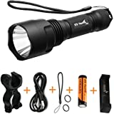ThorFire C8s Powerful Flashlight 900 Lumens XML2 Led Light with Rechargeable 18650 Battery, USB Charger , Bike Light Mount For Cycling Camping Hiking Emergency