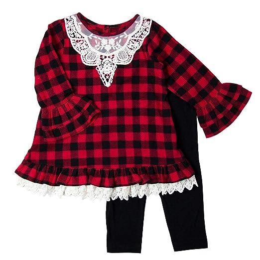 da65203a77373 Amazon.com: Good Lad Toddler & 4/6X Girls Buffalo Plaid Legging Set ...