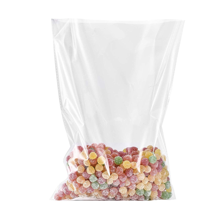 Syndecho 100 Pezzi Sacchetti Trasparenti Sacchetti Borse di Caramella Cello Bags OPP Cellophane per Imballaggio per Panetteria, Candy, Sapone, Biscotto, Regalo (15 * 25CM)