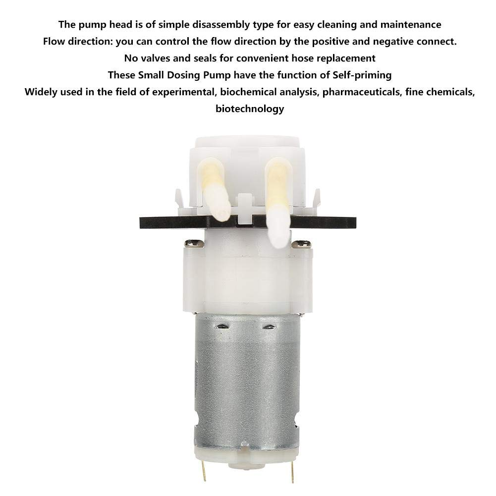 Dosing Pump DIY Tube Head for Aquarium Lab Chemical Analysis Peristaltic Pump 12V
