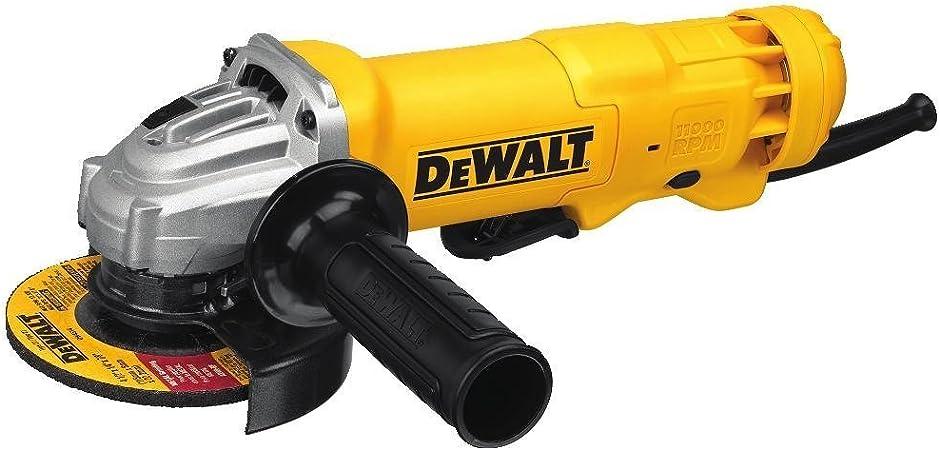 DEWALT DWE4012R 7-Amp 12000 RPM Paddle Switch Corded Small Angle Grinder Renewed