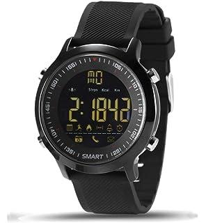 e741a1f593b Relógio Smartwatch Ex18 Academia Corrida Ip67 Notificações Monitor Calorias  Pedômetro (PRETO)