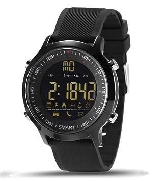 0b5255da4bd Relógio Smartwatch Ex18 Academia Corrida Ip67 Notificações Monitor Calorias  Pedômetro (PRETO)
