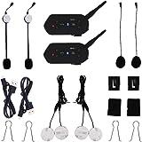 EJEAS® Un par E6 1200m 6 Pilitos Inalámbrico Bluetooth Moto Intercomunicador Casco Auricular VOX Impermeable GPS Música Actualización Programa de