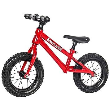 FAHBN Impeledor 12 Pulgadas Equilibrio Bicicleta Aprendizaje Rueda Scooter Niños Bicicleta Aprendiz Bicicleta,Red: Amazon.es: Deportes y aire libre