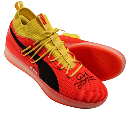 0abf66164d669f DEANDRE AYTON Autographed and Inscribed quot Time To Rise quot  Puma Clyde  Court Disrupt Size 16