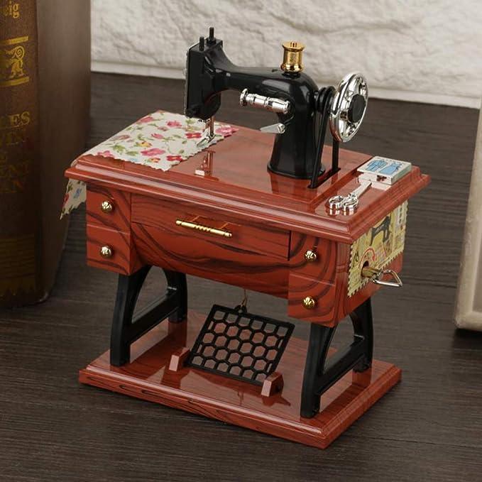 MMJJQWE Mini Caja de música de máquina de Coser de 2 Piezas ...