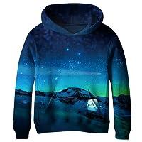Euro Sky Boys Girls Kids Blue Galaxy Pockets Sweatshirts Hooded Hoodies