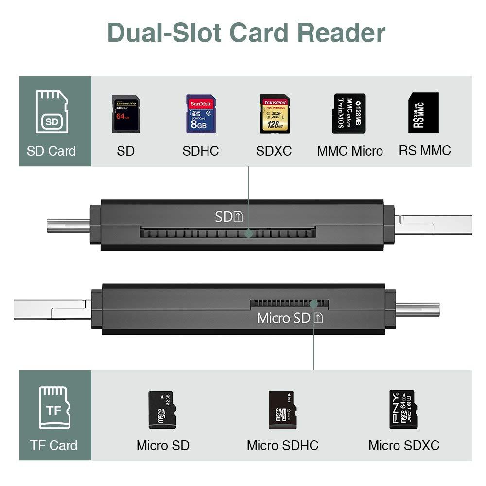 Vanja Lector Tarjeta de Memoria SD/Micro SD, Adaptador Micro USB ...