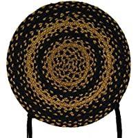 CWI Gifts Ebony Braided Chair Pad, 15