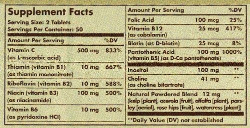 solgar vitamin b complex with vitamin c
