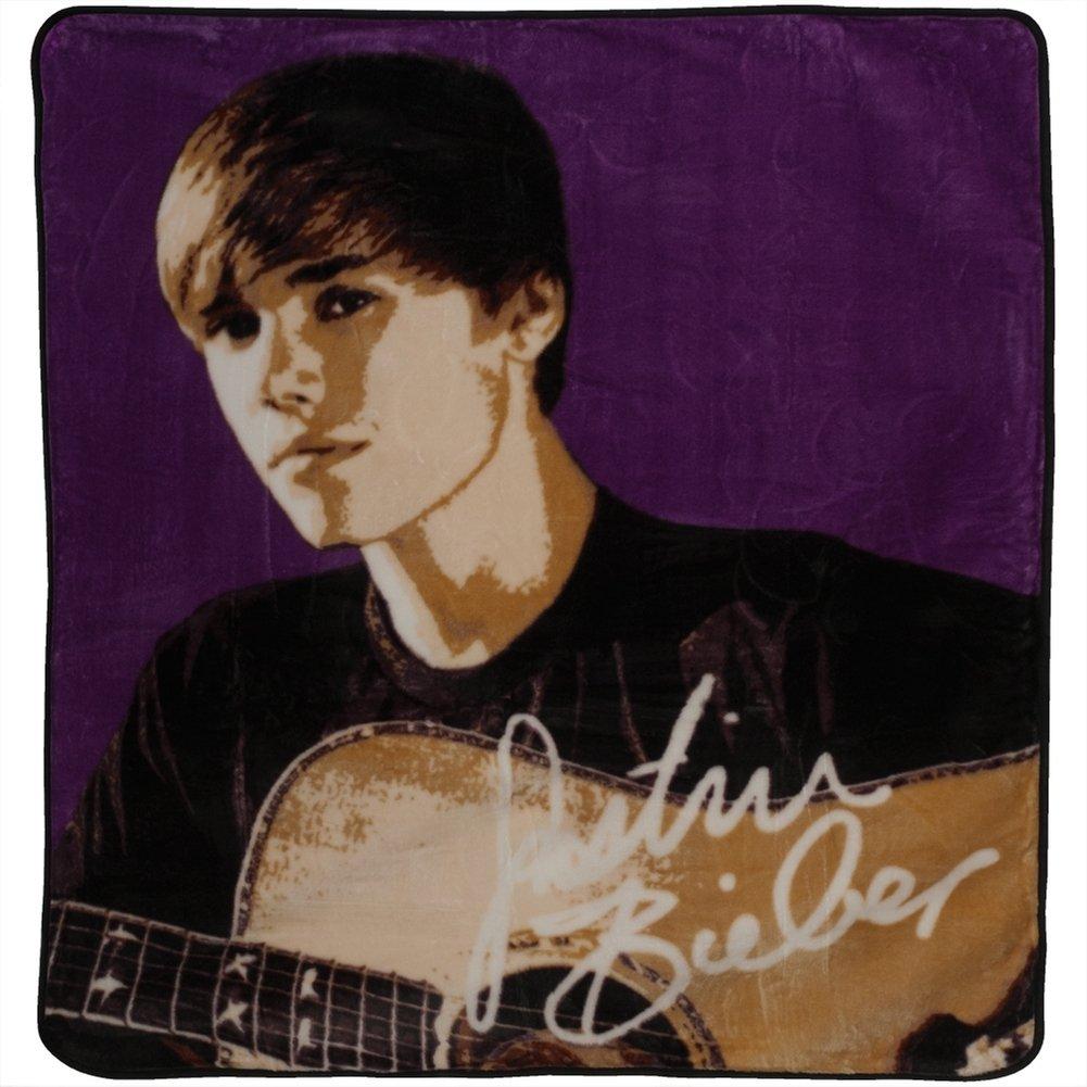 "Justin Bieber Strings Super Soft Royal Plush Throw Blanket 50""x60"""
