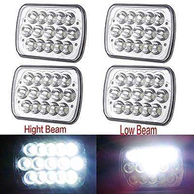 CPW (tm) 4PCS 7x6 LED Headlights For International IHC Headlight Assembly 9200 9900 9400i
