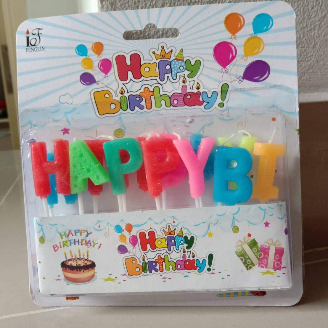 Happy birthday candles 13pcs cake party colourful ceremony lover decorate new