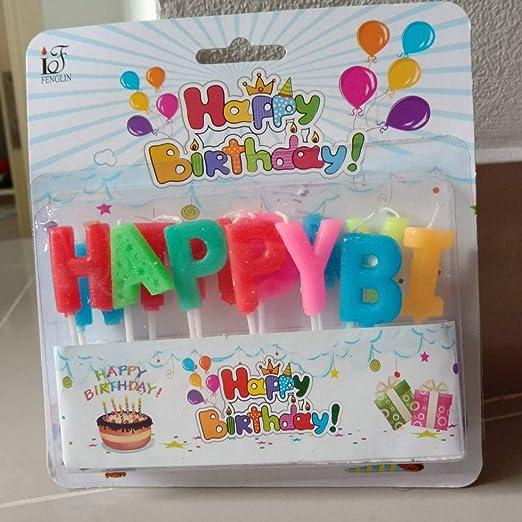 Amazon.com: Max corner - Vela con letras de feliz cumpleaños ...