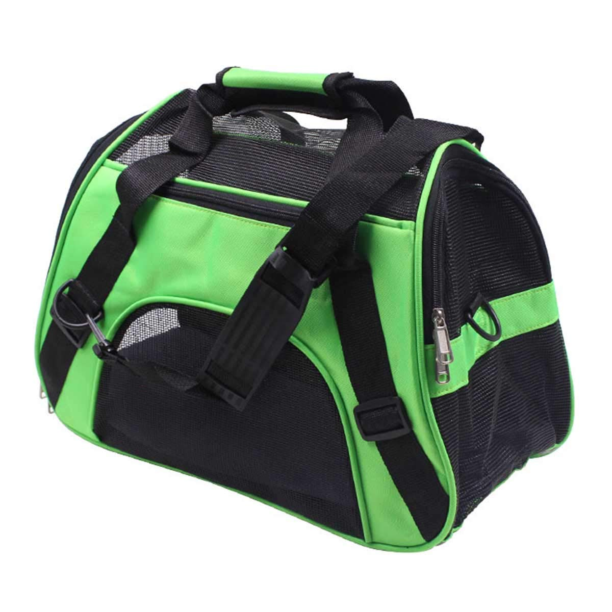 Green S 43x20x29cm Green S 43x20x29cm PETFDH Portable Pet Backpack Messenger Carrier Bags Cat Dog Carrier Outgoing Travel Teddy Packets Breathable Small Pet Handbag Green S 43x20x29cm