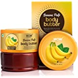 WOW Skin Science Banana Pulp Body Butter for Hydrating & Softening Rough Skin - For All Skin Types - No Parabens, Silicones, Mineral Oil & Color - 200mL