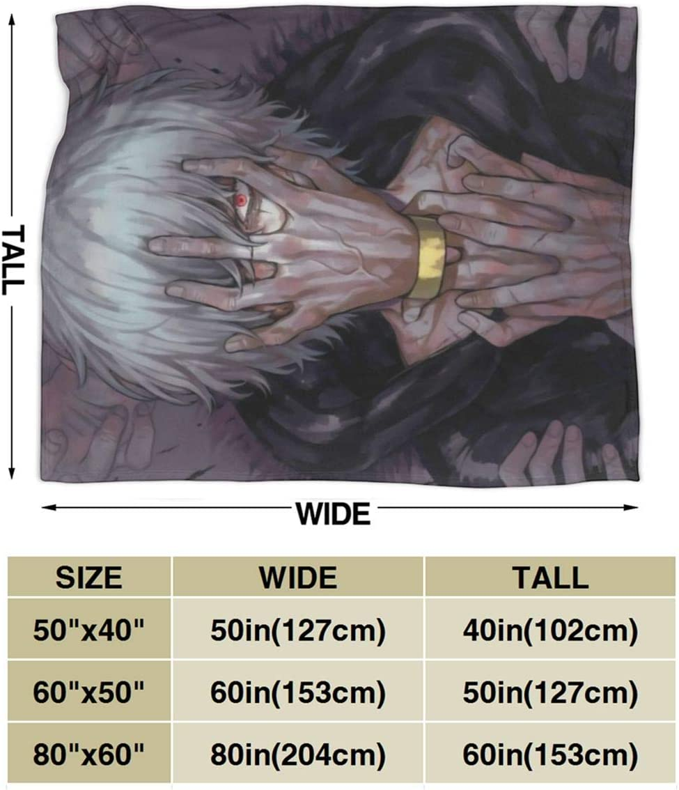 Darkt Tomura Shigaraki Flannel Air Conditioning Blanket Warm Throw Blanket Quilt Suitable All Seasons for Couch Bed Sofa 50x40 Inch for Child