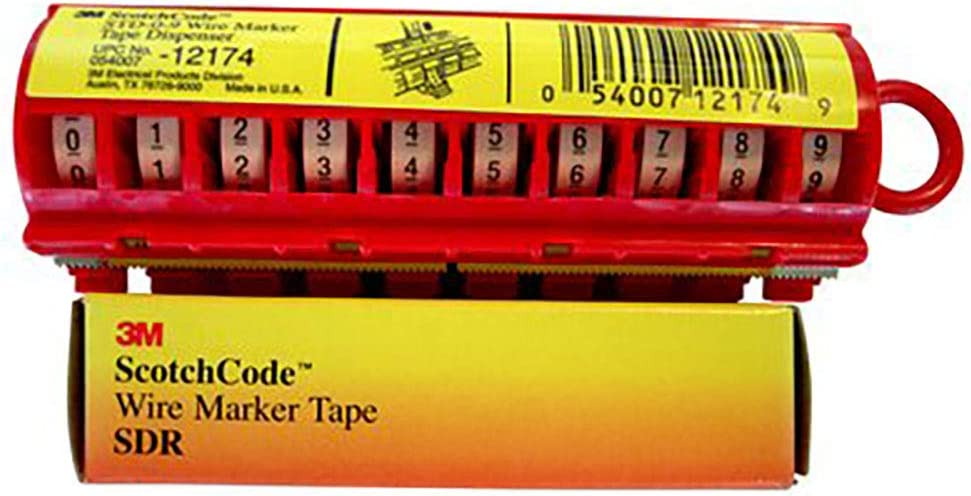 3M Scotch Code Wire Marker Tape Refill Roll SDR-9 Pack of 10 Printed with 9