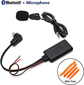 Car Bluetooth AUX Audio Receiver Adapter Cable + Tool & Microphone for Pioneer IP-BUS 11Pin CD DVD P99 P01