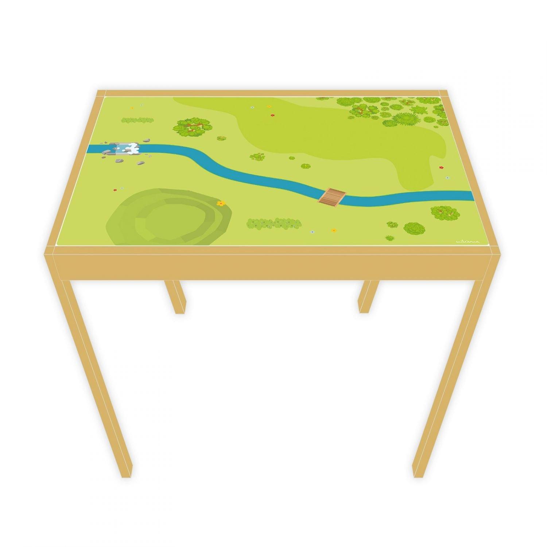 nikima - Spielfolie/Möbelfolie für Ikea Lätt Spieltisch Wald & Wiese Aufkleber Sticker Kinderzimmer (Möbel Nicht Inklusive)