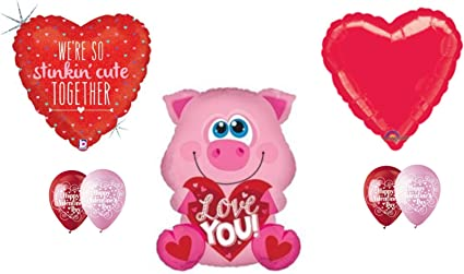 "Love You Pig 25/""  Balloon Birthday Party Decorations"
