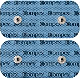 Compex Easy Snap Electrodes 2in x 4in for Edge, Performance, Sport Elite, Wireless Muscle Stimulators - 5 Pack (10 Electrodes) - Black