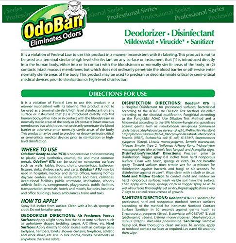 OdoBan 911062G4 Concentrated Odor Eliminator, Eucalyptus, 1gal Bottle (Case of 4) by OdoBan (Image #5)