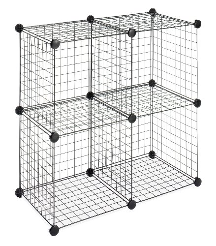 Whitmor Storage Cubes Set of 4 Black Wire (Not Storage Single Unit)