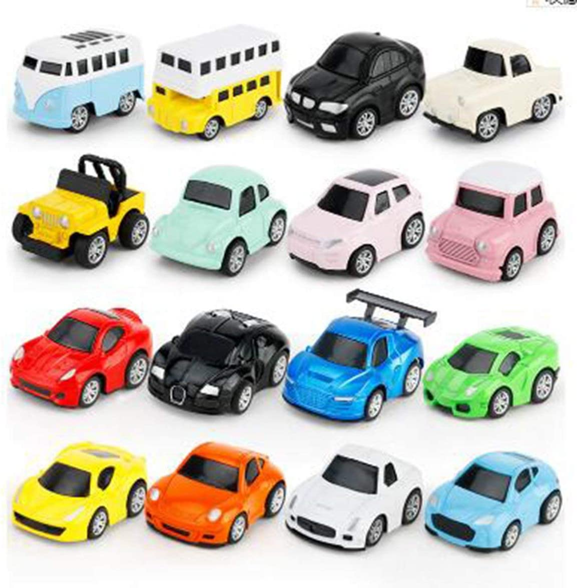 Pandamama Childrens Educational Toys Pull Back Alloy Macarons Car Model Can Be Used with Parking Lot Q Car Baby Toys