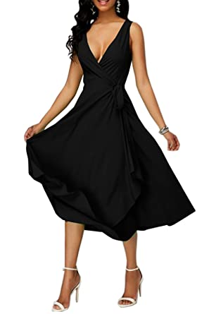 Black Flowy Cocktail Dress