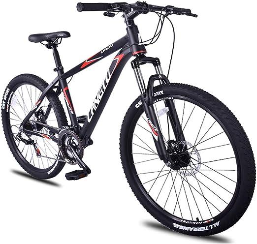 NENGGE 21 velocidades Bicicleta Montaña, Doble Freno Disco Bicicleta De Montaña Portátil, 26 Pulgadas Adulto Niño Hard Tail Bicicleta,Rojo: Amazon.es: Hogar