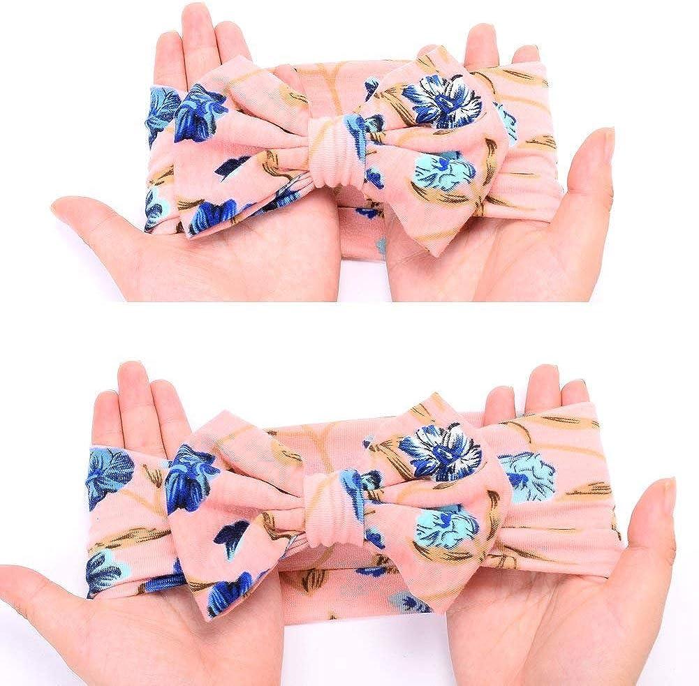 DRESHOW Manta Receptora para Reci/én Nacidos Diadema Juego de Estampado de Flores Baby Swaddle Mantas Receptoras