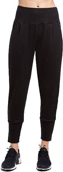 Jockey Women/'s Slim Tapered Terry Jogger Pants  XL Deep Black