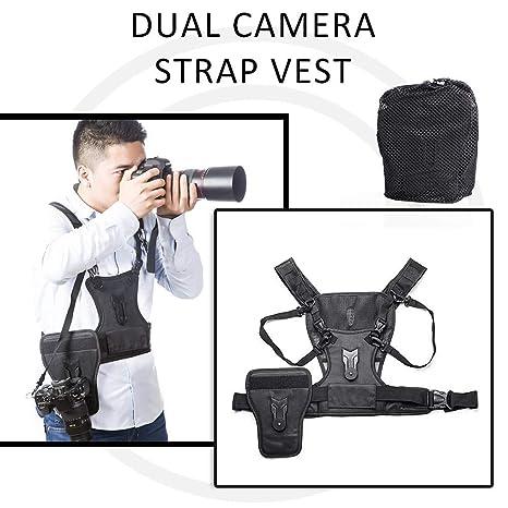 Holebay-EU - Chaleco de Doble Correa para cámara réflex y cámara ...