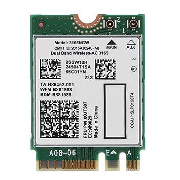 Amazon.com: ASHATA WiFi Card, Dual Band Wireless-AC 3165NGW ...