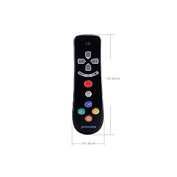 gamepop Juego mando a distancia con multifunción de aire ratón, Multimedia Android Control y sentido