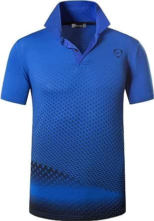jeansian Hombres Deportes Polo Shirt Poloshirt tee T-Shirt Tshirts Golf Tenis Badminton LSL195