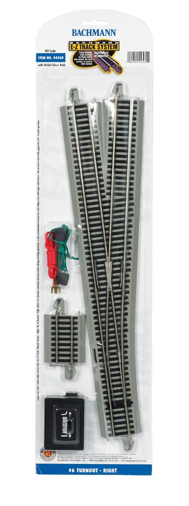 Right Bachmann Industries Inc Bachmann Trains Snap-Fit E-Z Track #6 Turnout 44560